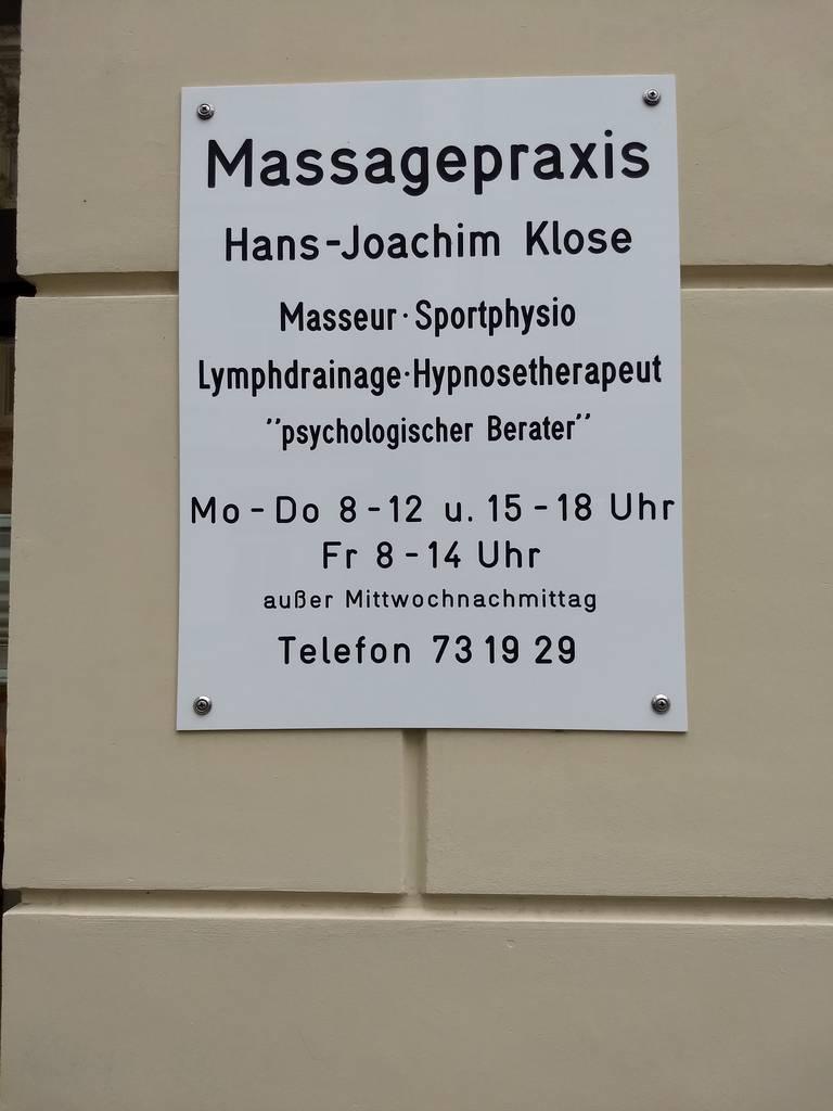 Profilfoto von Hans-Joachim Klose Massage-Praxis