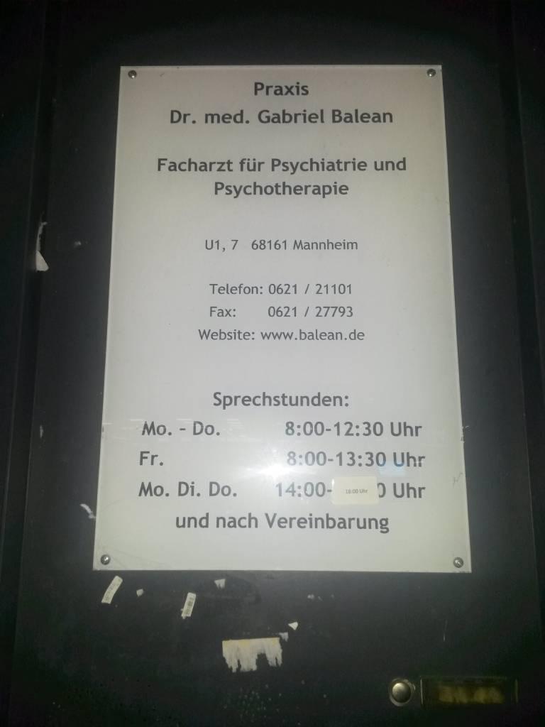 Profilfoto von Dr. med. Gabriel Balean Facharzt für Psychiatrie