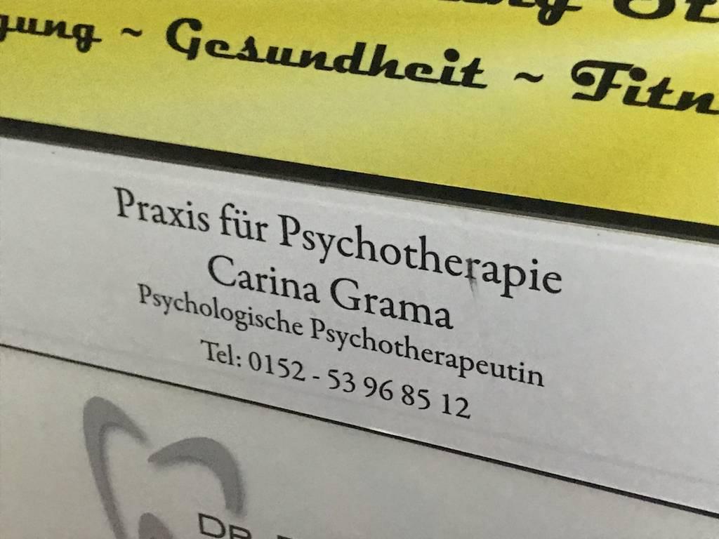 Profilfoto von Praxis für Psychotherapie Carina Grama