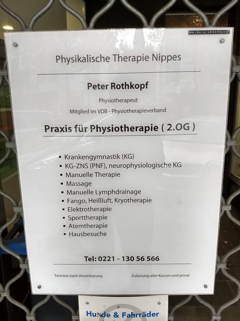 Profilfoto von Physikalische Therapie Nippes, Peter Rothkopf Physiotherapie