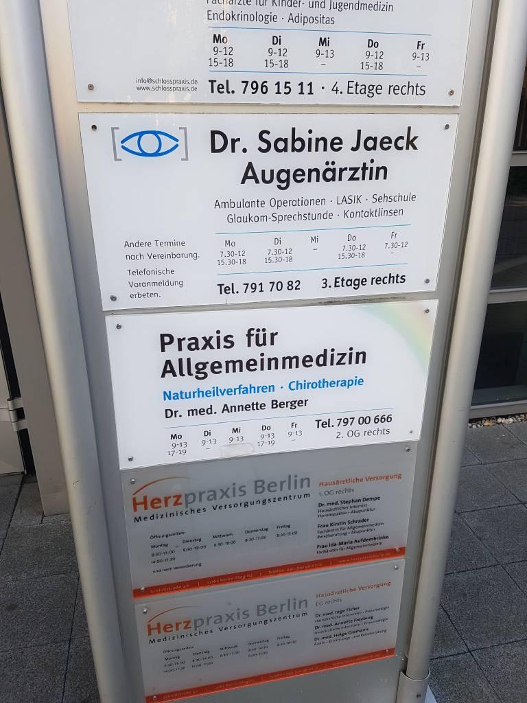 Profilfoto von Dr.med. Sabine Jaeck Fachärztin für Augenheilkunde