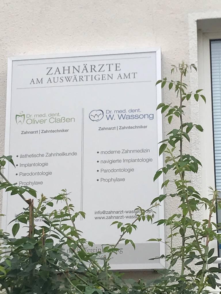 Profilfoto von Dr. med. dent. Wilhelm Wassong Zahnarzt