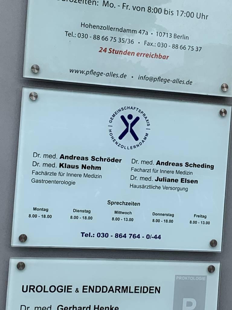 Profilfoto von Gemeinschaftspraxis am Hohenzollerndamm - Dres. Schröder, Nehm, Scheding, Elsen
