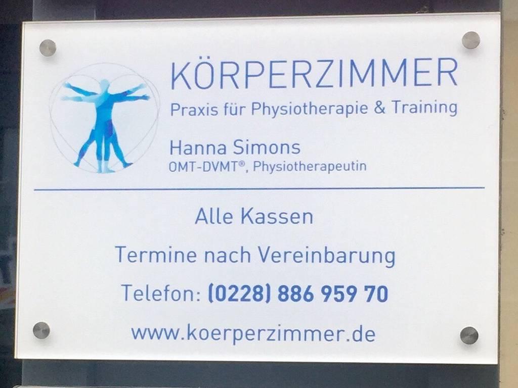 Profilfoto von Körperzimmer - Praxis für Physiotherapie und Training - Hanna Simons